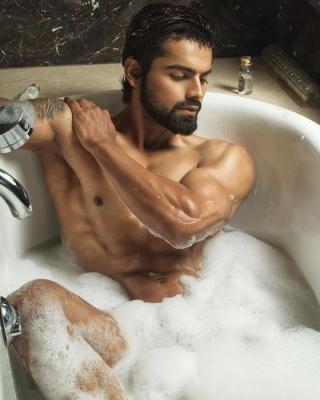 In a bathtub