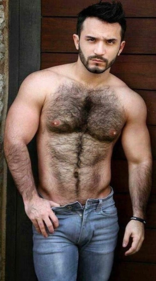 Hairy chest 7