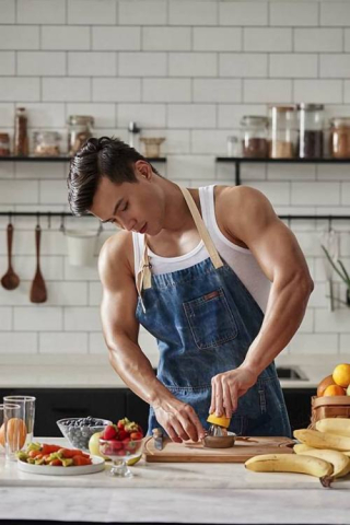Chef in dungarees